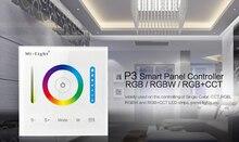 Milight P3パネルコントローラrgb rgbw rgb + cct ledタッチスイッチパネルコントローラの調光ledストリップ、パネルライトDC12v 24v