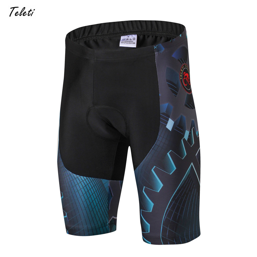 Teleyi 2019 Team Racing Sport Cycling Shorts Men Coolmax 4D Gel Padded Mtb Raod Bike Shorts Shockproof Breathable Bicycle Shorts