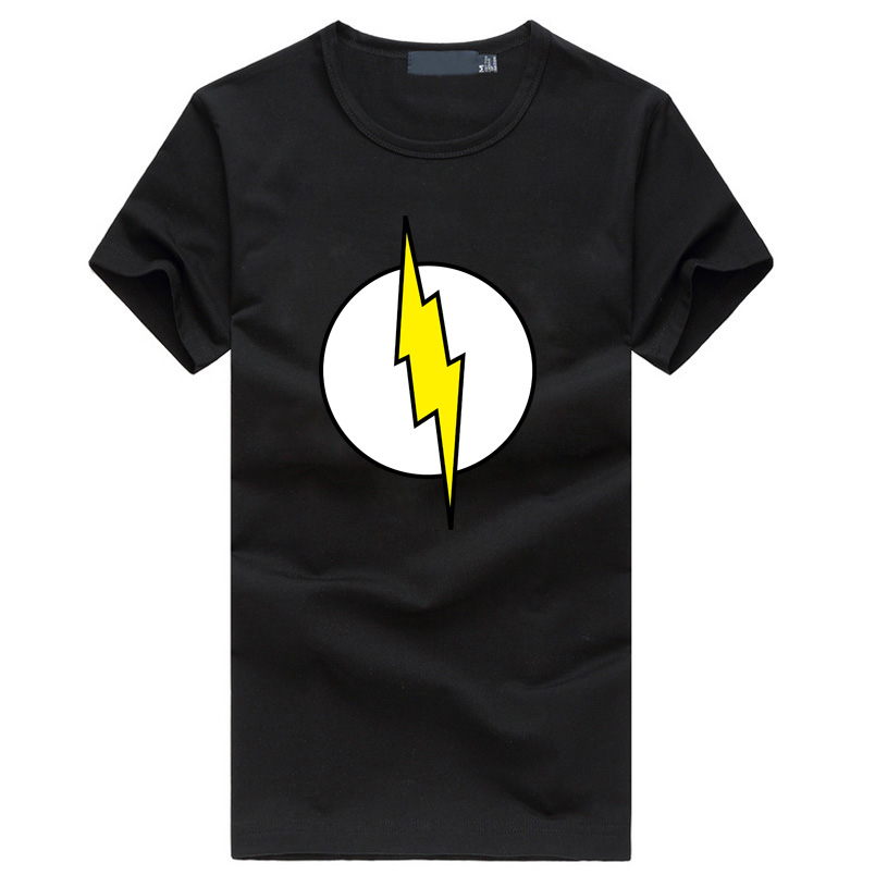 Big Bang Theory men's T-shirt Sheldon Cooper super hero flash cosplay t shirt homme fashion hip hop fitness mma brand clothing