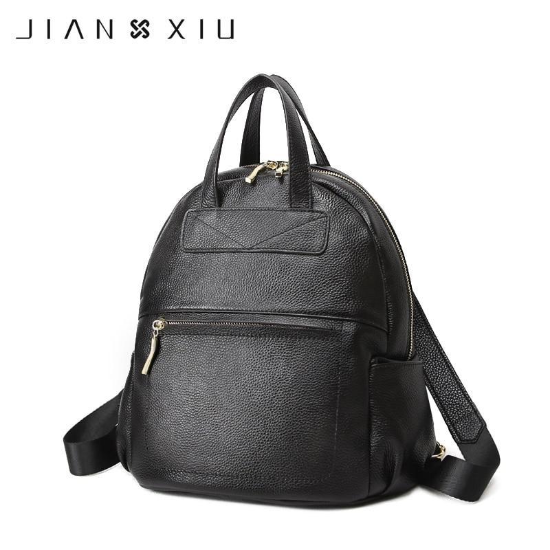 JIANXIU Brand Backpack Mochila Feminina Mochilas School Bags Genuine Leather Backpacks Women Bag Travel Bagpack Mochilas