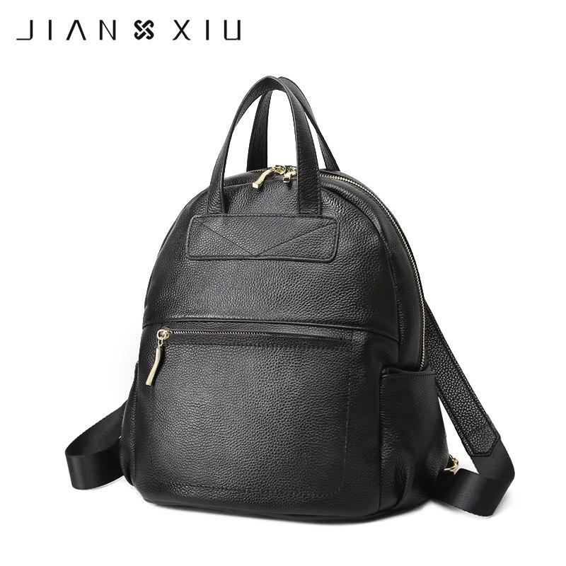JIANXIU ブランドのバックパック Mochila Feminina Mochilas スクールバッグ本革のバックパック女性バッグ旅行 Bagpack Mochilas Mujer  グループ上の スーツケース & バッグ からの バックパック の中 1