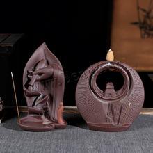 Керамическая горелка для ароматерапии в статуе рука Будды водопад