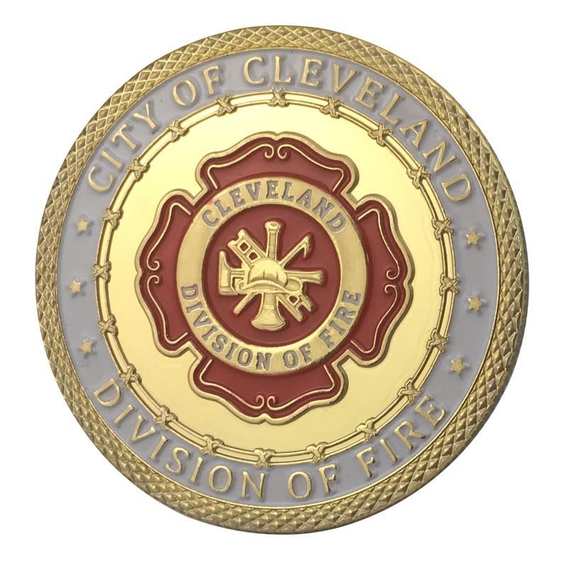 Поставка золото Покрытие город Кливленд Отдел вызов монета/медаль 1335