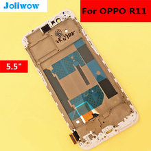 5.5  For OPPO R11 LCD Display +Touch Screen+Frame Digitizer Glass Lens Assembly Replacement ^ a 30 pin lcd display 7 supra m726g m727g m728g tablet inner tft lcd screen panel lens module glass replacement