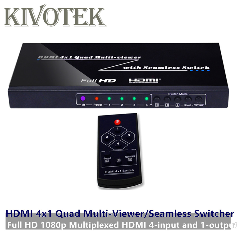 4 Ports HDMI Switch Seamless Switcher 4x1 Multi Viewer Adapter,Full HD1080P,For XBOX 360 PS4/3 Smart Android HDTV Free Shipping