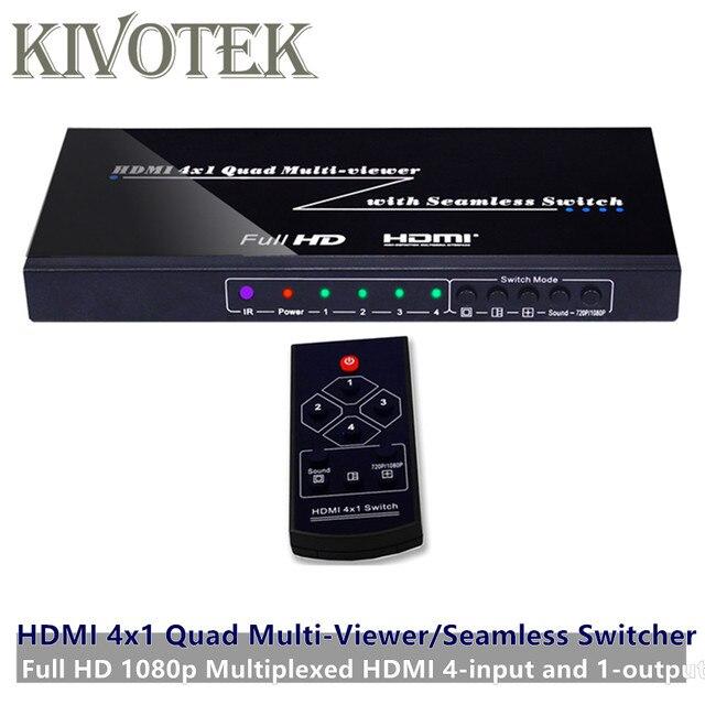 Commutateur HDMI 4 Ports sans couture commutateur adaptateur multi visionneuse 4x1, Full HD1080P, pour XBOX 360 PS4/3 Smart Android HDTV livraison gratuite
