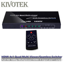 Conmutador HDMI de 4 puertos sin costura 4x1 Adaptador multivisor, Full HD1080P, para XBOX 360 PS4/3 Smart Android HDTV envío gratis