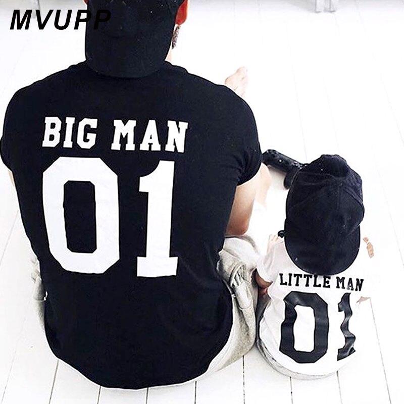 Famille correspondant vêtements grande litière homme t-shirt papa et moi tenues père fils papa bébé garçon enfants look été vêtements frères