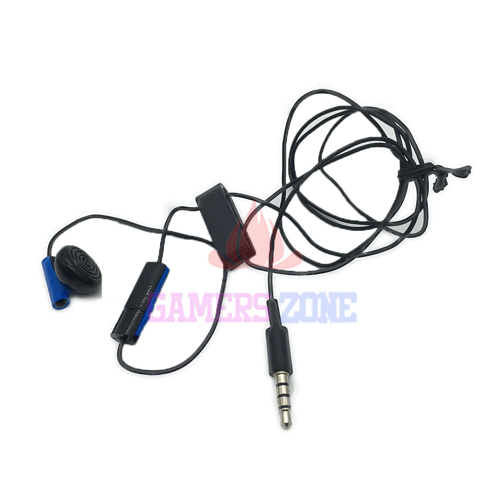 Wired Earphone For Sony Blue Mono Headset for PS4 Headphone Unilateral Ear Jack W/ Mic Swicth