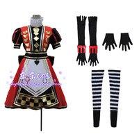 Livraison gratuite Alice au pays des merveilles l'art de Alice : Madness Returns pousser Costume Cosplay pour les femmes pour la fête