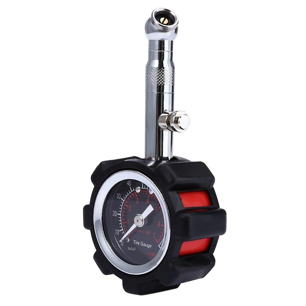 Medidor de presión de neumáticos de alta precisión negro 100 psi para calibrador de neumáticos de presión de aire de coche preciso para camión y motocicleta