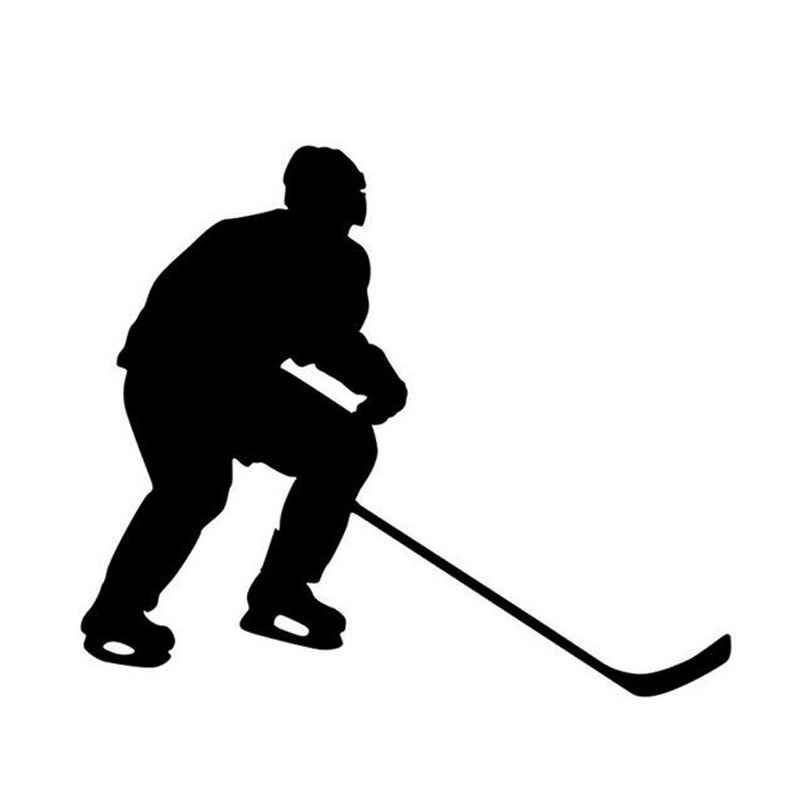 13*11CM ICE HOCKEY Player Movement Pattern Decorative Stickers Decals Hockey Enthusiasts Car Stickers CT-788