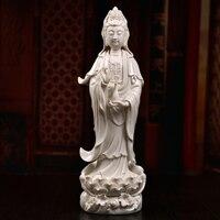 Гуаньинь Наньхай бодхисаттвы керамики Гуаньинь статуя Будды украшения из белого фарфора скульптуры офис украшения