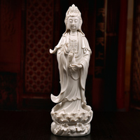 Guanyin Nanhai Bodhisattva Ceramics Guanyin Buddha statue Decoration white porcelain sculpture office decoration