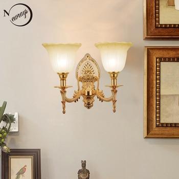Modern plated metal glass royal jade wall Lamp LED E27 220V Luxury Lustre Wall Lights for living room bedroom restaurant hallway