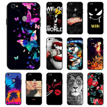 For Xiaomi Redmi Note 5A Prime S2 Cases Coque 3D DIY Painted Black Flower Cat Cover On Mi A2 Xiomi Mix Max 3 Bumper