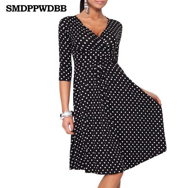 78c877f34 SMDPPWDBB Vestido de las mujeres con cuello en V elegante Oficina Vestido  vestidos de maternidad de
