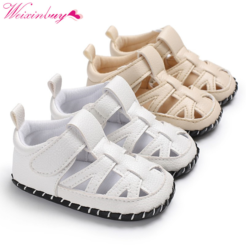 PU Sandals for Boys Baby Shoes Summer Breathable PU Baby Boy Sandals Fashion Beach Sandals Baby Girl Shoes