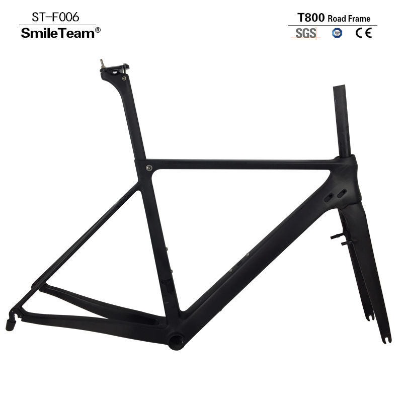 2017 Newest Hot Sell T800 Full Carbon Road Bicycle Frame UD Matte Carbon Road Racing Bike Frame+Fork+Seat post+Clamp+Headset smileteam new 27 5er 650b full carbon suspension frame 27 5er carbon frame 650b mtb frame ud carbon bicycle frame