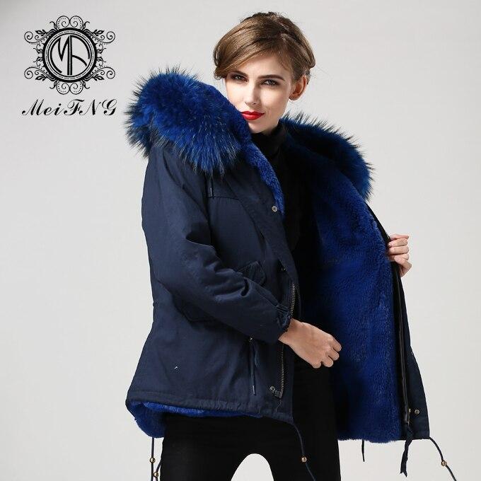 Бесплатная доставка 2017 зима новый дизайн Европейский Стиль плащ короткие темно синие из искусственного меха в стиле милитари куртка плюс р