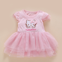 Newborn Baby Girl 1st Birthday Princess Dress Bow Knot Boutique Beautiful Infant Dresses Cute Summer Baby