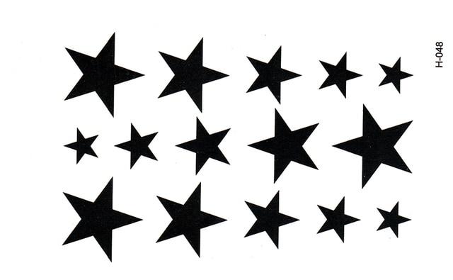 New Water Transfer Star Waterproof Temporary Tattoo Sticker Sexy Product 10.5*6cm tatoo stickers