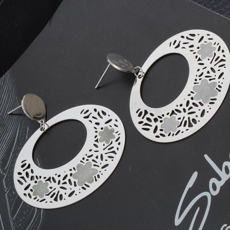 92e244ff593c ᐅVenta caliente de la vendimia pendientes de acero inoxidable ...