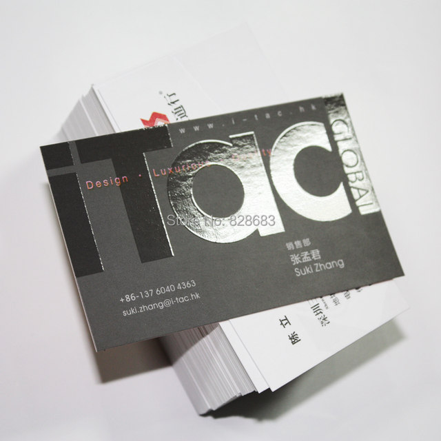 Online shop free shipping two faced printed paper business cards free shipping two faced printed paper business cards with uv coated logo 500pcs reheart Image collections