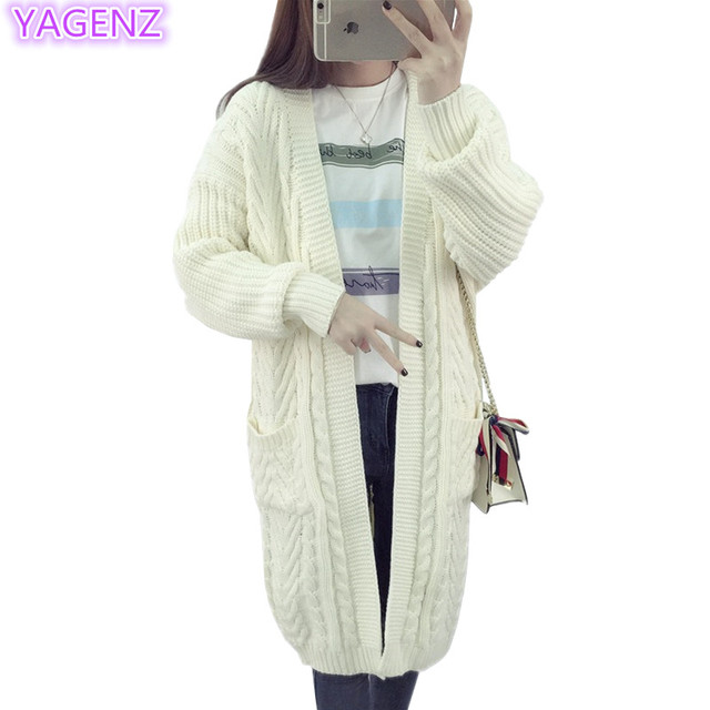 Aliexpress.com  Buy YAGENZ Ladies Knitted Sweaters Long Cardigan Women  Coat Women Tops Knit Sweater Coats Spring And Autumn Clothes Long Jacket  121