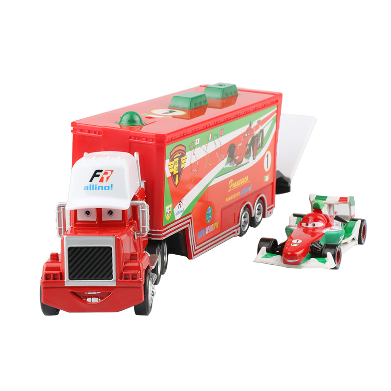 Дисней Pixar Тачки 2 3 игрушки Молния Маккуин Джексон шторм мак грузовик 1:55 литая модель автомобиля игрушка детский подарок на день рождения - Цвет: Two cars D