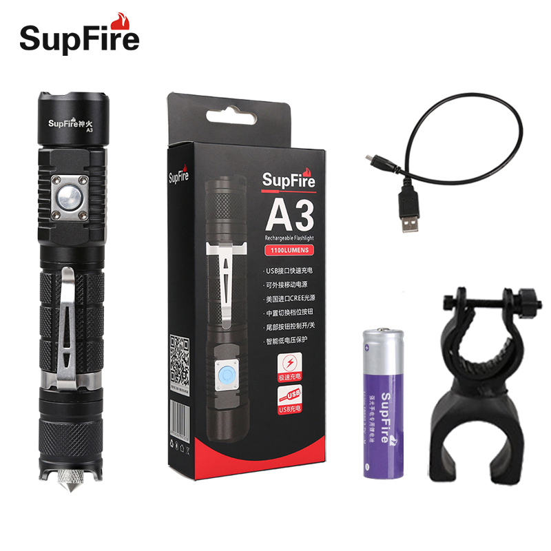 Sports & Entertainment Bicycle Accessories Flashlight Linterna Led Usb Torch Supfire A3 Lanterna Bike Flash Light Car Repairing Hand Light For Olight Convoy S2 Sofirn A003 Diversified In Packaging