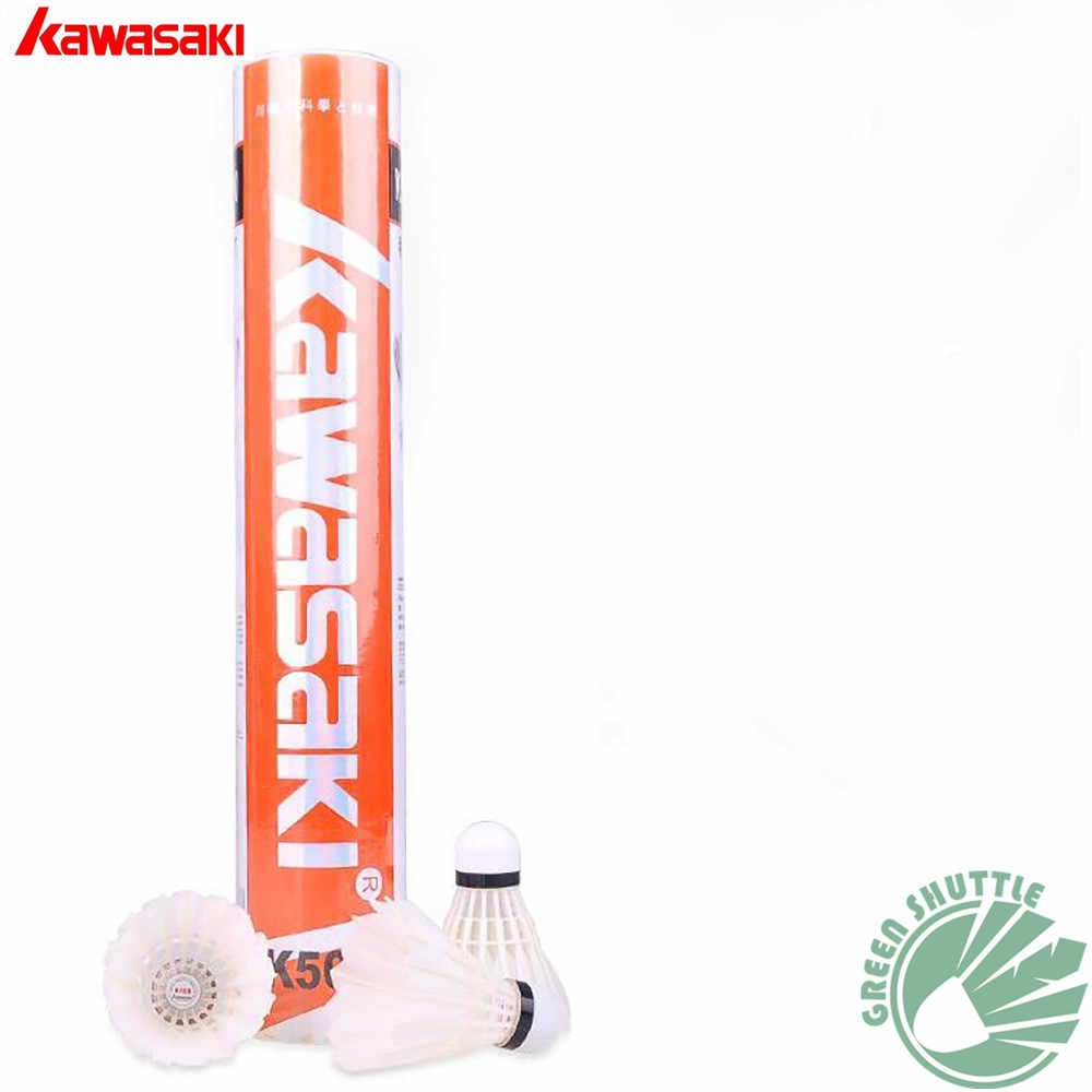 2019 Genuine Kawasaki innovative 3 in 1 Durable Badminton Shuttlecock with Goose Feather K500