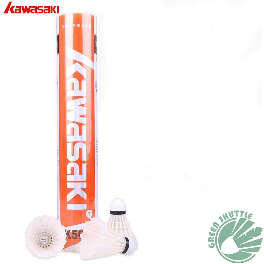 2020 Genuine Kawasaki Innovative 3 In 1 Durable Badminton Shuttlecock With Goose Feather K500