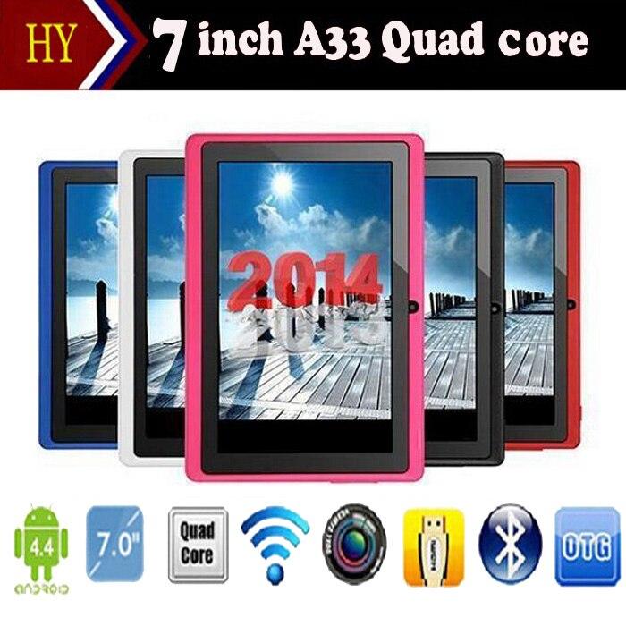 Cheap 7 inch quad core Allwinner q88 A33 dual camera Andorid 4 4 tablet pc 512M