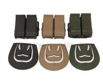 Caza doble 2 Revista bolsa de cinturón caso caza 9mm 45 Cal revista bolsa CQC Gl 17 19 22 23 funda de pistola bolsa con cinturón