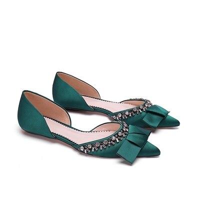 De Arc Nouvelles 2019 3 Strass Chaussures Femmes 1 Pointu 2 Plates pZYFnIxxw