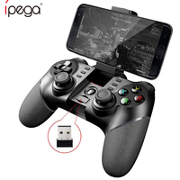 iPega PG 9076 PG 9076 Bluetooth Gamepad With 2.4G Adapter Wireless Game Controller Joystick for Android Phones Windows PC PS3
