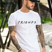 2019 New summer mens fashion t shirts friends print shirt male Clothing Man fitness casual T-Shirts men cotton