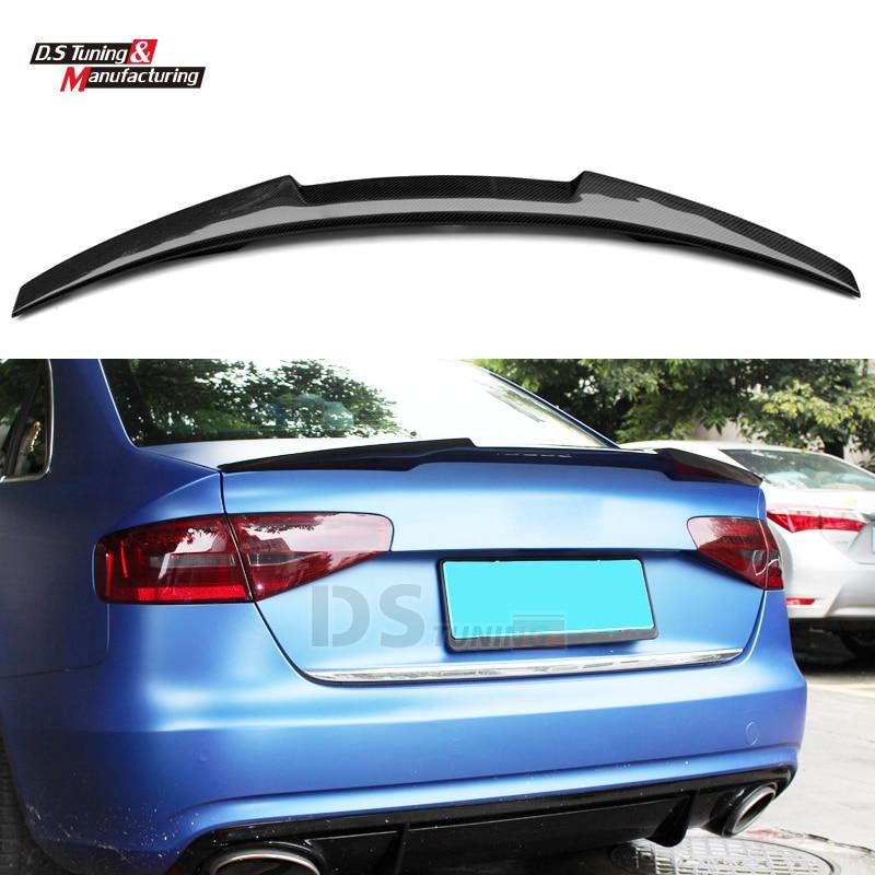 M4 style spoiler Carbon Fiber Spoiler Wing for Audi A4 B8.5 2012 - 2016 Trunk Wing for audi a4 b8 carbon rear spolier m4 style carbon fiber rear spoiler rear trunk wing for audi a4 b8 spoiler 2009 2010 2011 2012