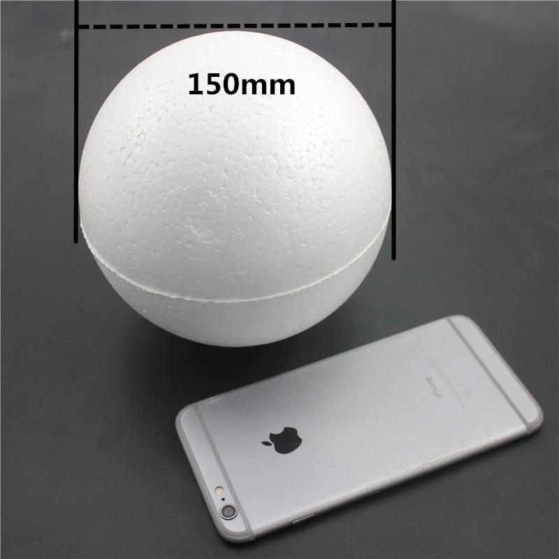 1 шт. 150 мм моделирование пенополистирол пенопласт пены мяч белый авторские шары для DIY для рождественской вечеринки украшения поставки подарки