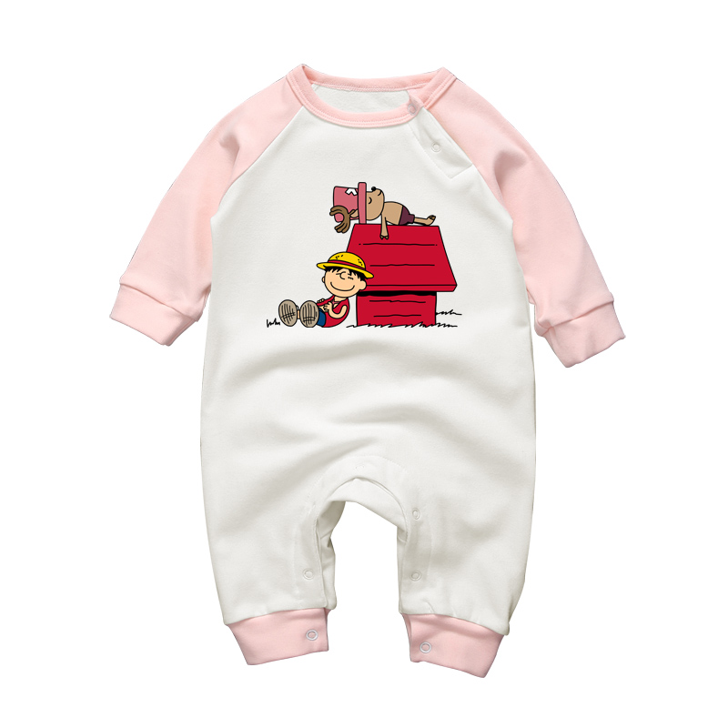 Baby Boys Rompers One-pieces Luffy Choppers Cute Toddler Cotton Playsuits 3-18 Newborn Baby Girls Cartoon Clothing Jumpsuits