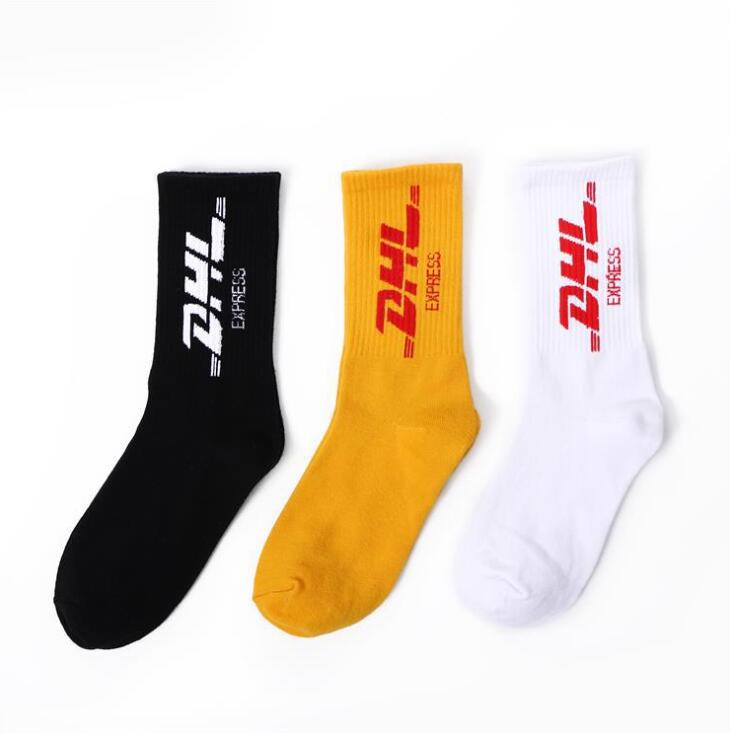 Unisex   Socks   street fashion Style For DHL words Letters Print Men Woman Fashion   Sock   Crews Ulzzang Skate Board