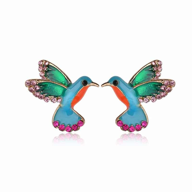 New Simple Animal Bird Stud Earrings Anti Allergy Earring High Quality Wedding Party Earrings For Women Jewelry Best Gift
