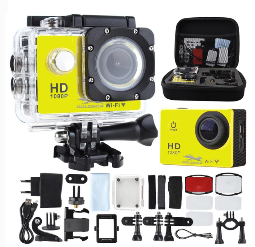 GOLDFOX SJ 4000 Wifi Sport Action Camera 1080P Full HD Sport Camera Sport DV hd 12MP 170D 30M Go Waterproof Pro Bike Helmet Cam wimius 4k action cam wifi 20m mini sport helmet fpv camera full hd 1080p go waterproof underwater 30m pro dvr for bike motorcyle
