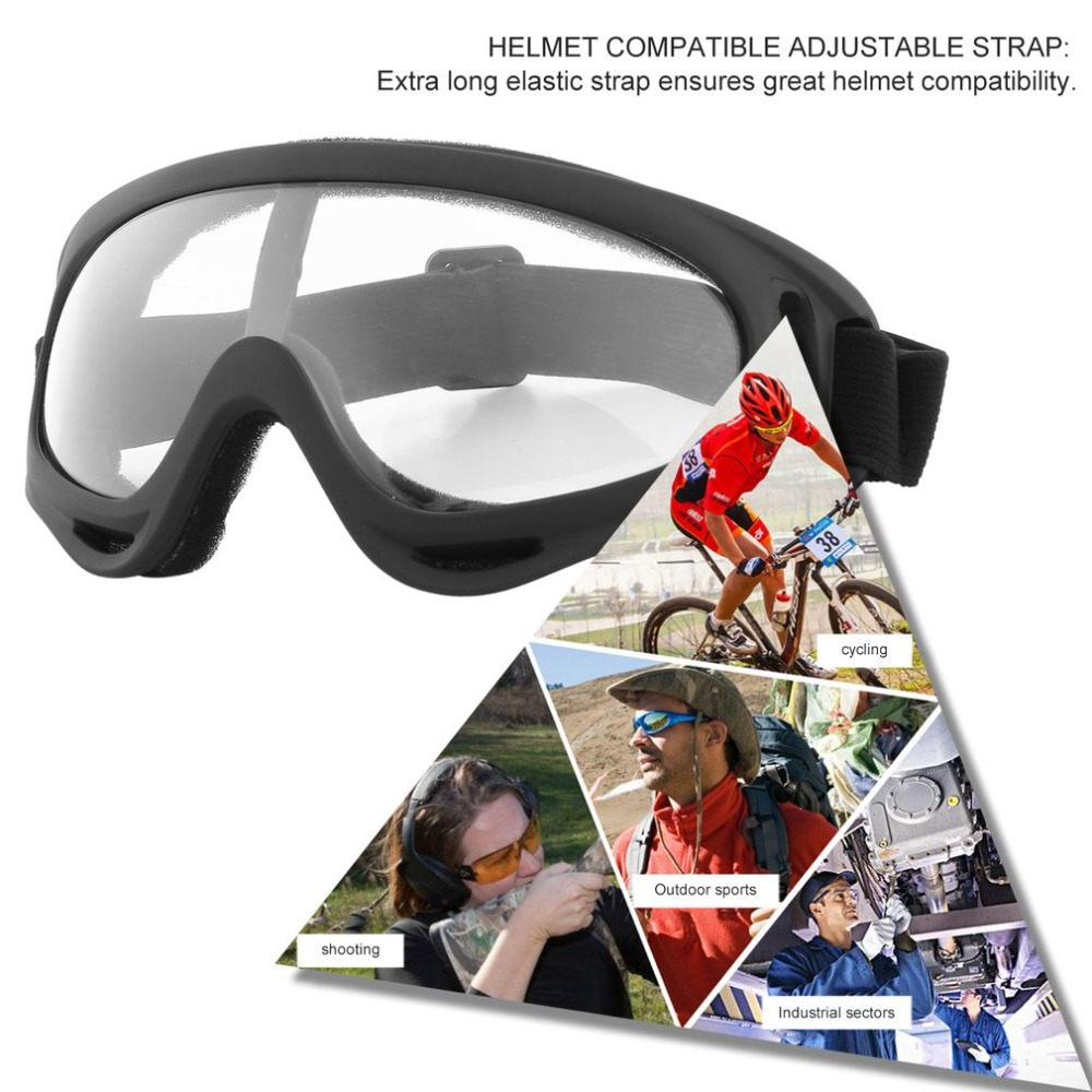 Sporting Outdoor Cycling Protective Goggles Windproof Ski Glasses Bendable Fog-proof Skiing Goggles With Elastic Headband Hot Sales Pure Whiteness Workplace Safety Supplies