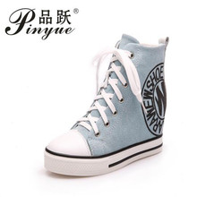 Wedge High Heels Thick Soled High Top Ladies Casual Shoes Women Platform