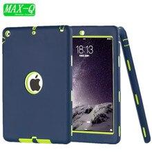 Nuevo para apple ipad 5/ipad air 1 caso amor pesado a prueba de golpes caja de la tableta cubierta resistencia a las caídas film protector de pantalla gratuito + stylus