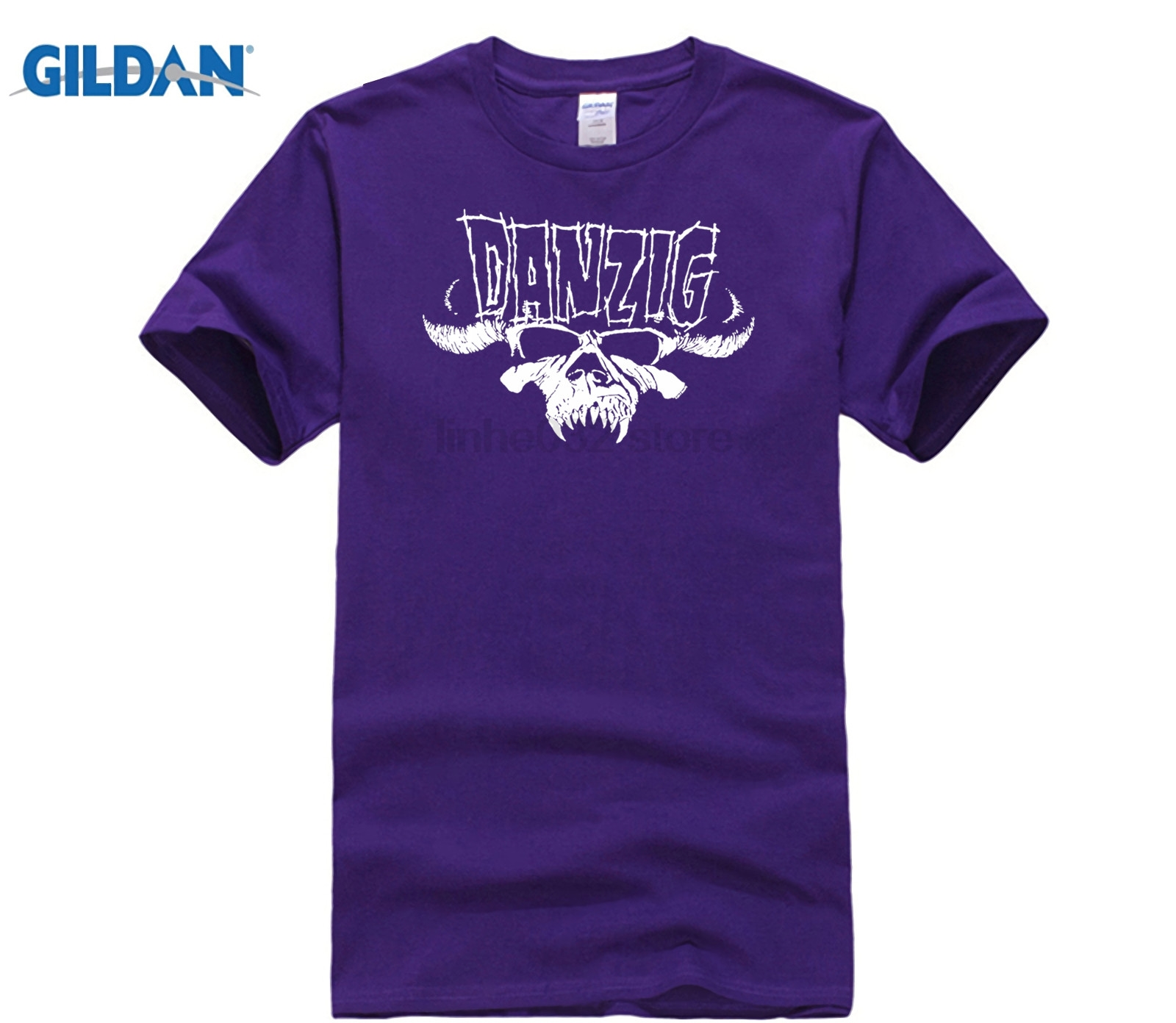 DILDAN 2018 New Pure Cotton s Hip Hop Fashion MensT Shirt Pop Cotton Man Men 39 s Danzig Skull and Regular Shirt in T Shirts from Men 39 s Clothing