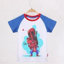 Kids T-shirt Boy Superhero Funny 100 Cotton Raglan Short Sleeve Children Clothing Child Tee Shirt Boys Tops 2019 Kid T Shirts raglan sleeve bowknot embellished cut out t shirt