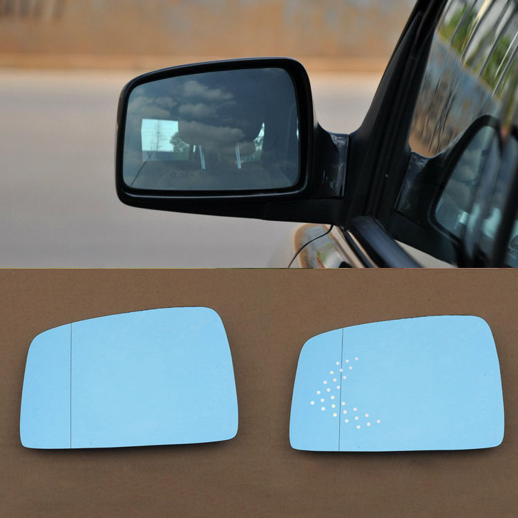 2pcs New Power Heated w/Turn Signal Side View Mirror Blue Glasses For Kia Sportage depo 335 5429l3efh2 chevy express gmc savana driver side textured heated power mirror with turn signal